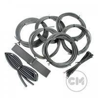 CableModders Sleeving Kit - Medium - Carbon Svart