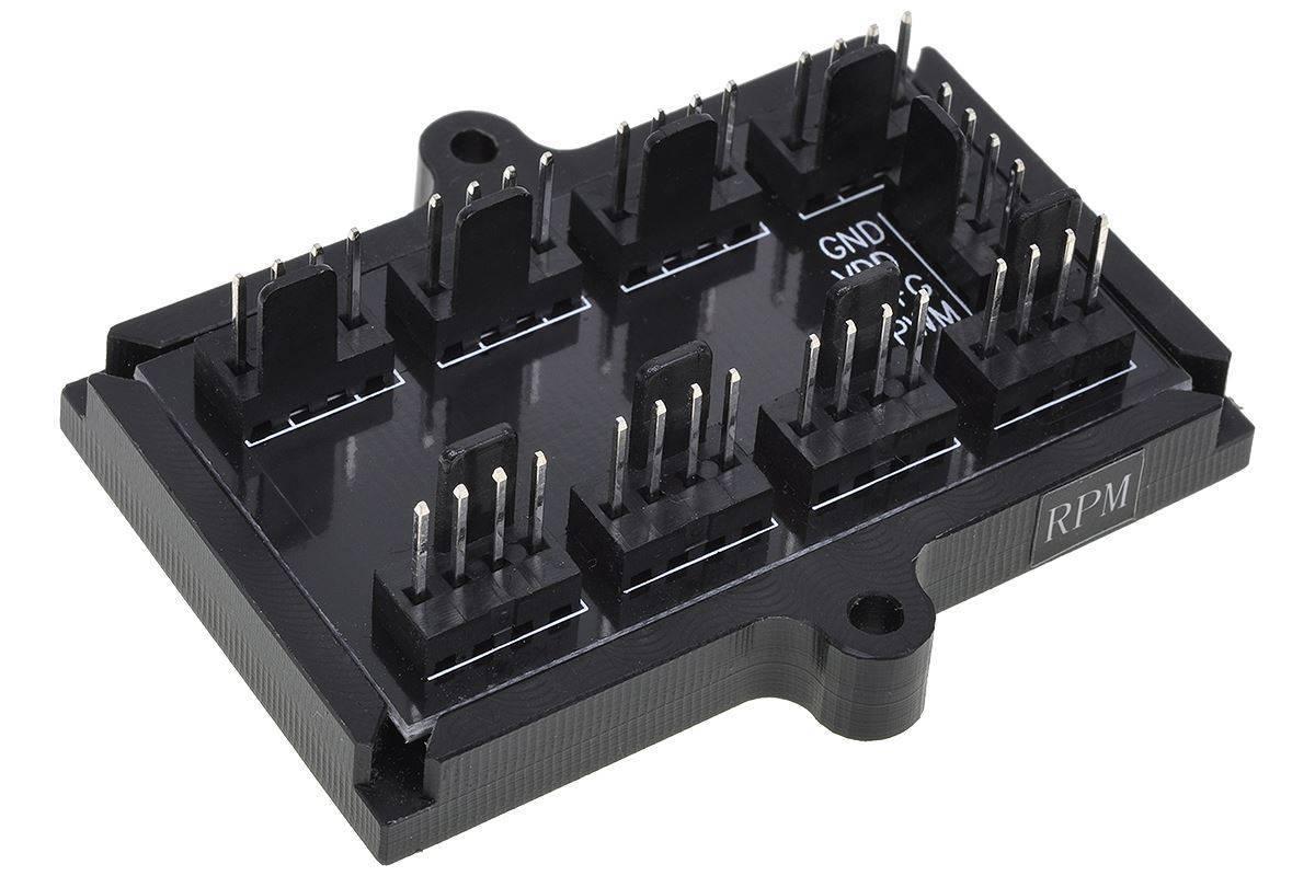 Phobya 4 Pin Molex Til 8 Stk 4 Pin Pwm Fan Splitter Pcb